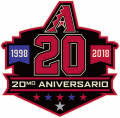 Arizona Diamondbacks 2018 Anniversary Logo iron on sticker