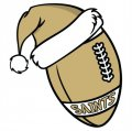 New Orleans Saints Football Christmas hat logo decal sticker