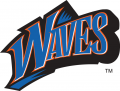 Pepperdine Waves 1998-2003 Wordmark Logo 01 decal sticker
