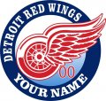Detroit Red Wings Customized Logo decal sticker