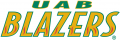 UAB Blazers 1996-2014 Wordmark Logo 03 decal sticker