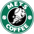 New York Mets Starbucks Coffee Logo iron on sticker