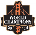 San Francisco Giants 2014 Champion Logo decal sticker