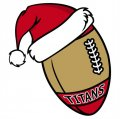 San Francisco 49ers Football Christmas hat logo decal sticker