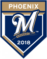 Milwaukee Brewers 2018 Event Logo iron on sticker
