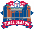 Texas Rangers 2019 Stadium Logo iron on sticker