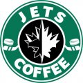 Winnipeg Jets Starbucks Coffee Logo iron on sticker
