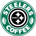 Pittsburgh Steelers starbucks coffee logo decal sticker