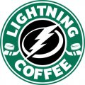 Tampa Bay Lightning Starbucks Coffee Logo iron on sticker