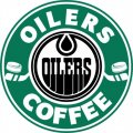 Edmonton Oilers Starbucks Coffee Logo iron on sticker