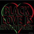 BLACK LOVE IRON ON STICKER