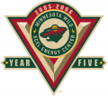 Minnesota Wild 2005 06 Anniversary Logo decal sticker