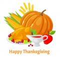 Thanksgiving Day Logo 34 decal sticker