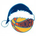 Oklahoma City Thunder Basketball Christmas hat logo iron on sticker