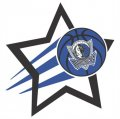 Dallas Mavericks Basketball Goal Star logo iron on sticker