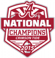 Alabama Crimson Tide 2015 Champion Logo iron on sticker