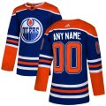 Edmonton Oilers Custom Letter and Number Kits for Blue Jersey