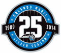 Orlando Magic 2013-2014 Anniversary Logo iron on sticker