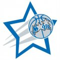Orlando Magic Basketball Goal Star logo iron on sticker