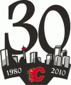 Calgary Flames 2009 10 Anniversary Logo decal sticker