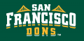 San Francisco Dons 2012-Pres Wordmark Logo 03 decal sticker