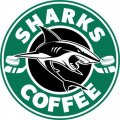 San Jose Sharks Starbucks Coffee Logo iron on sticker