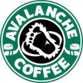 Colorado Avalanche Starbucks Coffee Logo iron on sticker