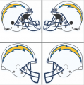 San Diego Chargers Helmet Logo iron on sticker