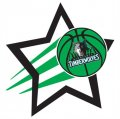Minnesota Timberwolves Basketball Goal Star logo iron on sticker