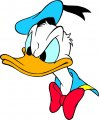 Donald Duck Logo 48 iron on sticker