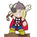 Thor Logo 05 decal sticker