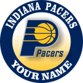 Indiana Pacers Customized Logo iron on sticker