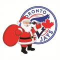Toronto Blue Jays Santa Claus Logo iron on sticker