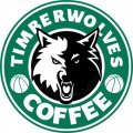 Minnesota Timberwolves Starbucks Coffee Logo decal sticker