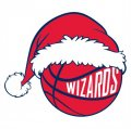 Washington Wizards Basketball Christmas hat logo iron on sticker