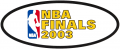NBA Finals 2002-2003 Logo decal sticker