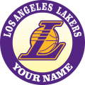 Los Angeles Lakers Customized Logo iron on sticker