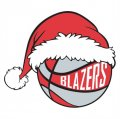 Portland Trail Blazers Basketball Christmas hat logo iron on sticker