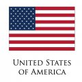 United States of America flag logo decal sticker