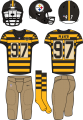 Pittsburgh Steelers 2012-2016 Throwback Uniform decal sticker