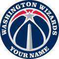 Washington Wizards Customized Logo iron on sticker