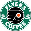 Philadelphia Flyers Starbucks Coffee Logo iron on sticker