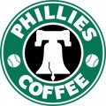 Philadelphia Phillies Starbucks Coffee Logo iron on sticker