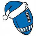 Detroit Lions Football Christmas hat logo decal sticker