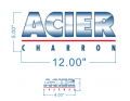 ACIER logo iron on sticker