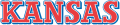 Kansas Jayhawks 1989-2001 Wordmark Logo iron on sticker