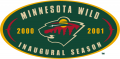 Minnesota Wild 2000 01 Anniversary Logo decal sticker