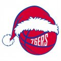 Philadelphia 76ers Basketball Christmas hat logo iron on sticker