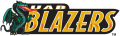 UAB Blazers 1996-2014 Wordmark Logo 02 decal sticker