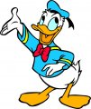 Donald Duck Logo 52 iron on sticker
